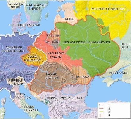 Jogailaičių valdomos valstybės XV a. pabaigoje