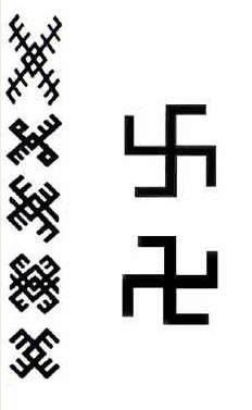 Baltiški ornamentai, simboliai, simbolika, svastika
